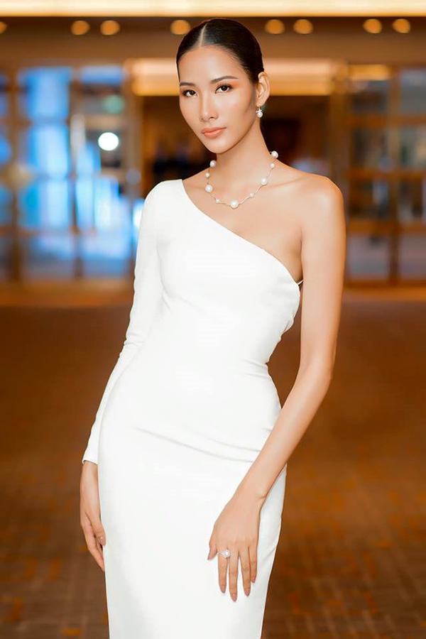 Để chuẩn bị cho cuộc thi Hoa hậu Hoàn Vũ VN2017, Hoàng Thuỳ mạnh dạn rũ bỏ hình ảnh cá tính, mạnh mẽ của một siêu mẫu. Cô gây ấn tượng bởi tạo hình dịu dàng hơn.
