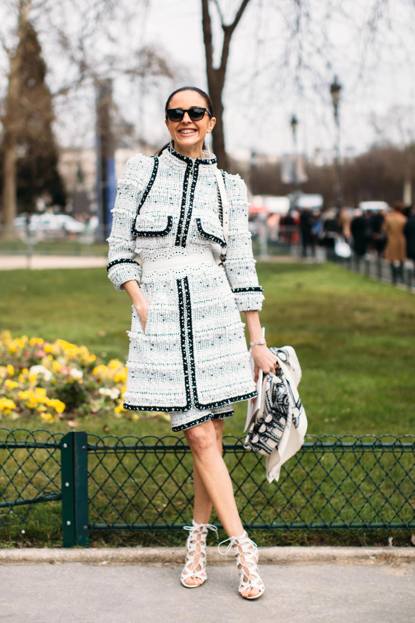 Thương hiệu Chanel street style Tuần lễ thời trang Paris 13