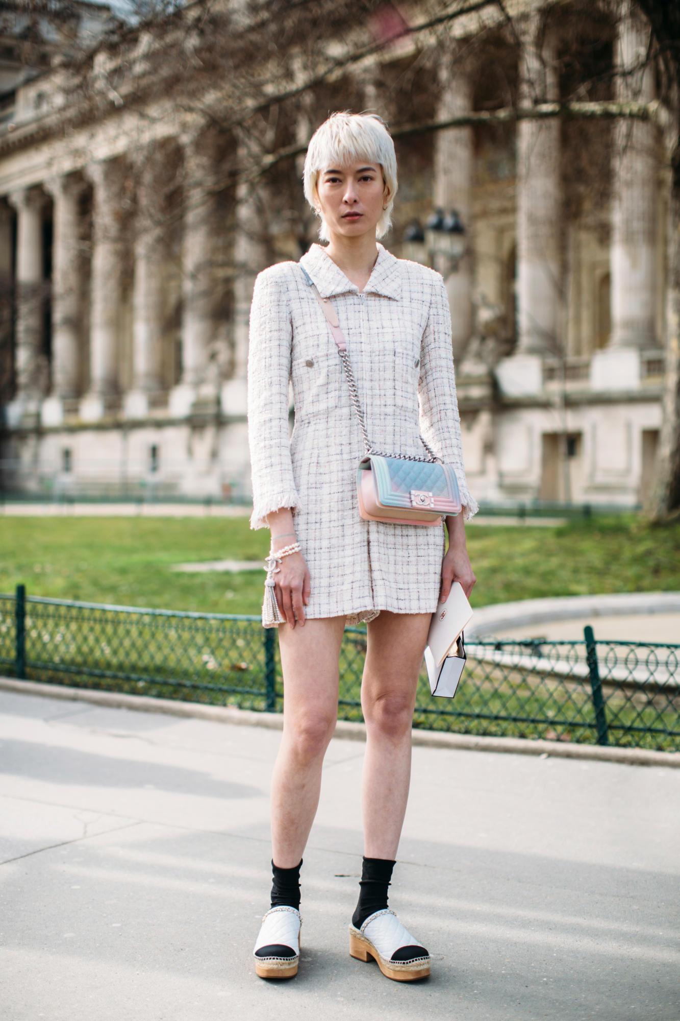 Thương hiệu Chanel street style Tuần lễ thời trang Paris 14