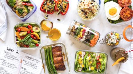 Nhật ký giảm cân: Gợi ý món ăn trong thực đơn giảm cân theo phương pháp Meal Prep