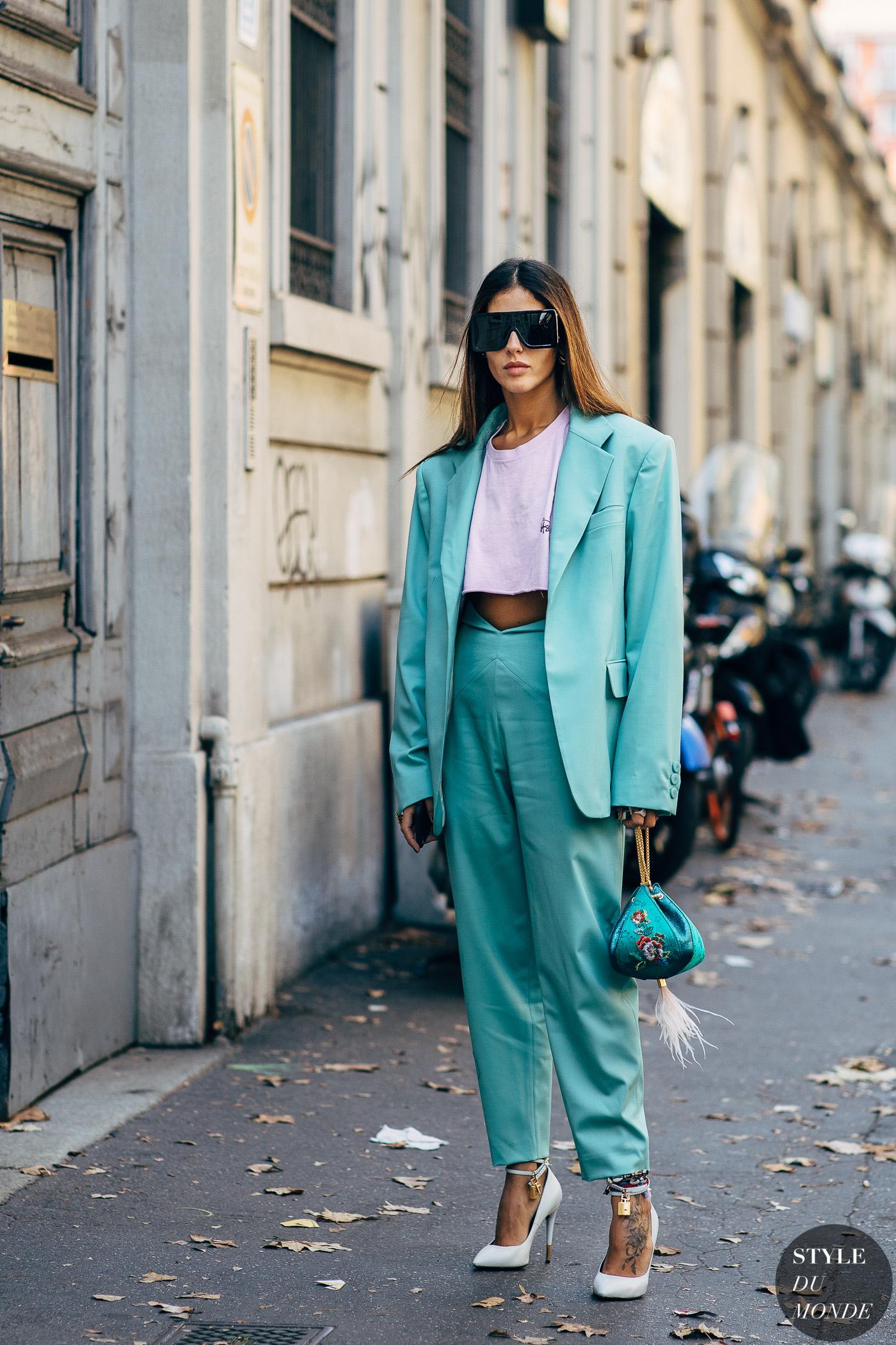 trang phục xanh ngọc lam elle việt nam 4