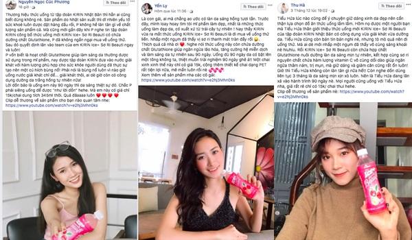 Kirin Ice+Sơ Ri Beauti trở thành người bạn làm đẹp thân thiết của nhiều hot girl.