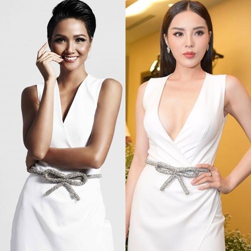Kỳ Duyên sexy hơn hẳn HHen Niê khi diện cùng một thiết kế. Nếu như vào tay HHen Niê, bộ đồ trở nên kín bưng thì khi mặc lên người Kỳ Duyên, thiết kế lại phô trọn lợi thế vóc dáng của người mặc.