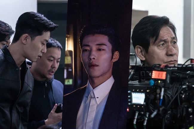 Hé lộ ảnh hậu trường cực điển trai của Park Seo Joon trong phim điện ảnh mới - Ảnh 1.