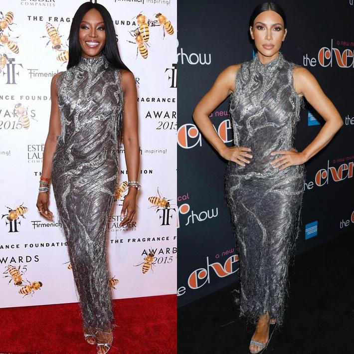 Kim Kardashian liên tiếp copy lại phong cách của Naomi Campbell nhưng lại đem đến ấn tượng hoàn toàn khác - Ảnh 3.