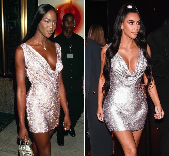Kim Kardashian liên tiếp copy lại phong cách của Naomi Campbell nhưng lại đem đến ấn tượng hoàn toàn khác - Ảnh 5.