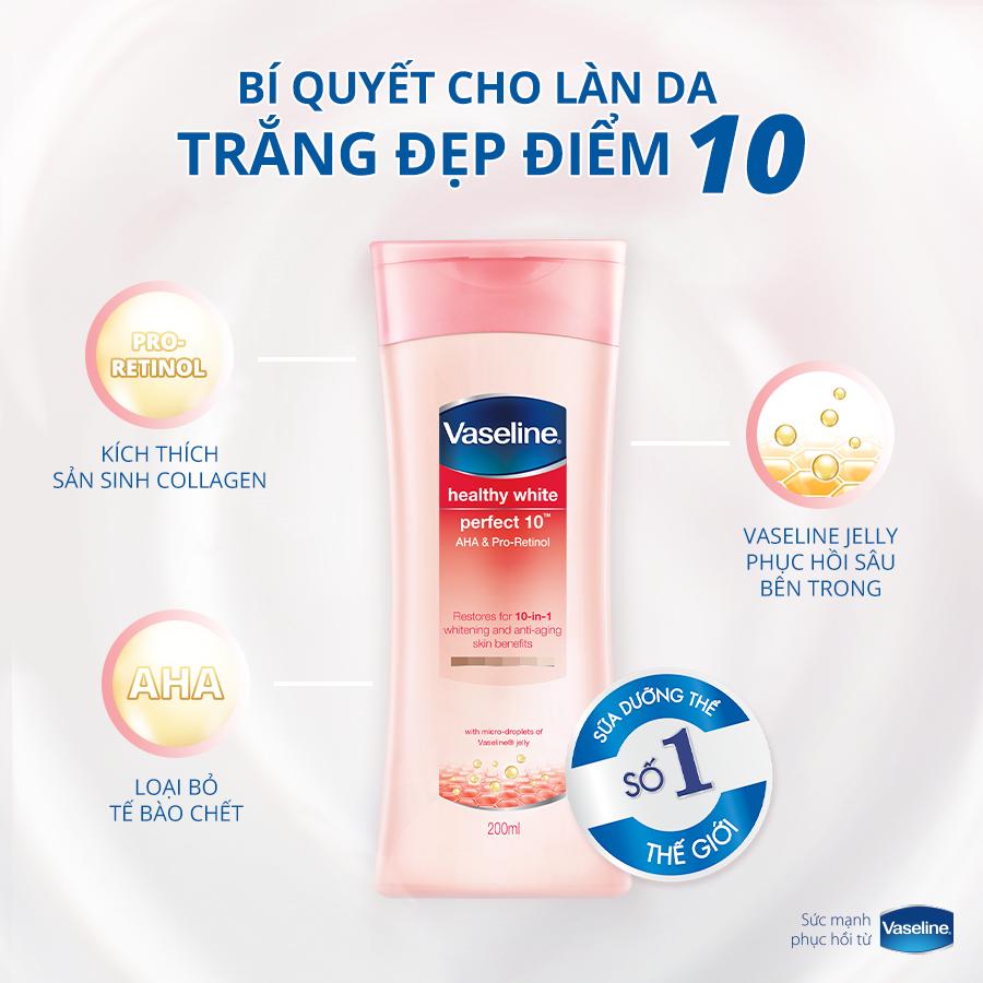 kem dưỡng trắng da toàn thân Vaseline Perfect 10in1