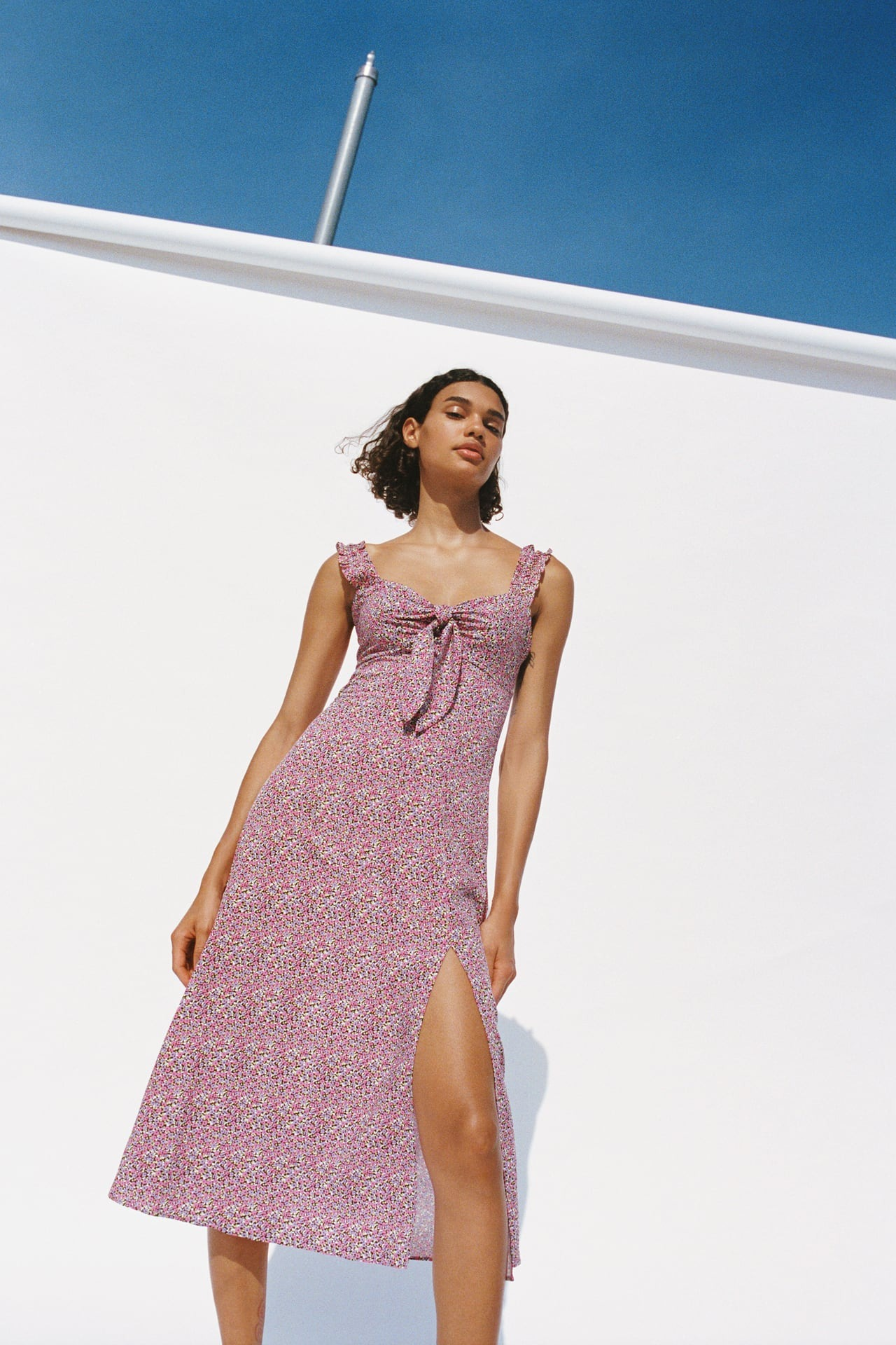 Đầm dài in hoa nhí Zara