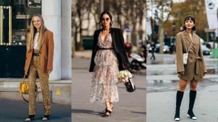 Đổi gió cho thời trang công sở bằng bản phối áo blazer và thắt lưng