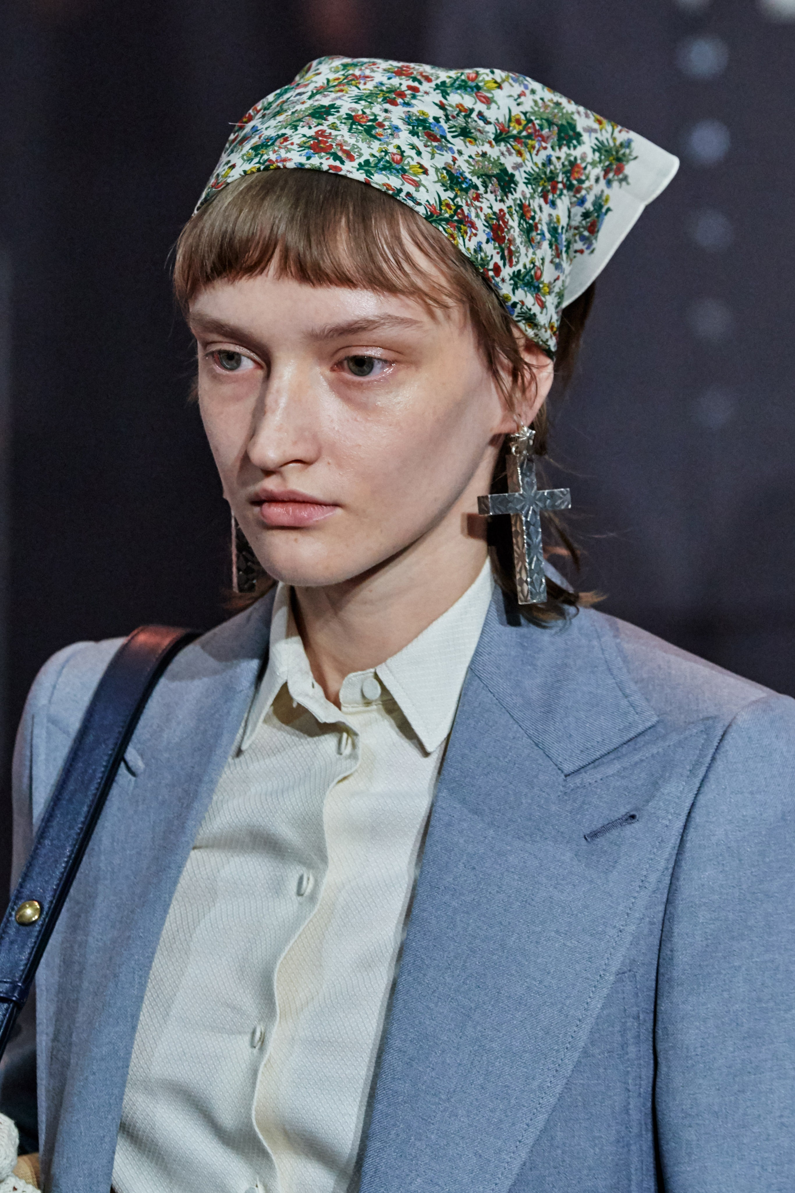 Phụ kiện tóc khăn bandana bst gucci thu đông 2020