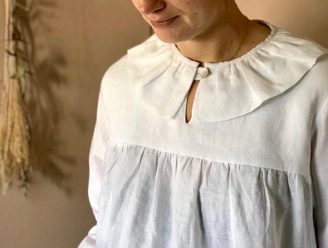 cổ áo peterpan trơn