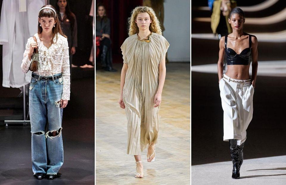 phong cách thời trang y2 trên sàn diễn thu đông 2020