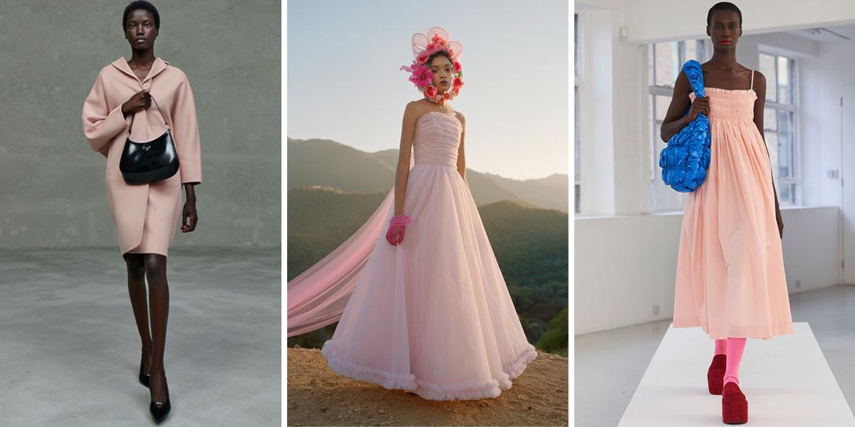 màu hồng nhạt thời trang 2021