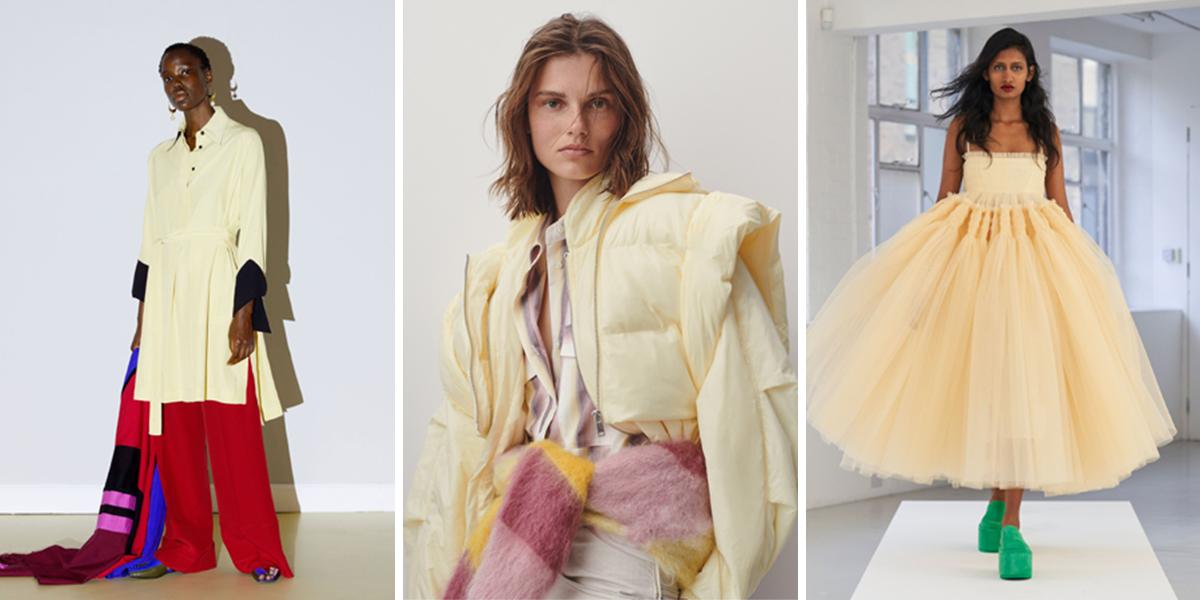 màu vàng nhạt thời trang xuân hè 2021