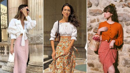 4 bản phối chân váy hoa cho tín đồ thời trang retro
