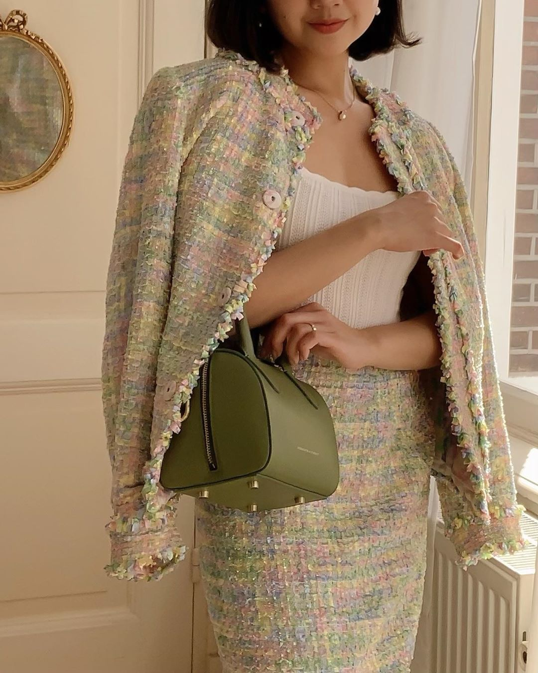 Xu hướng thời trang - túi xách xanh olive