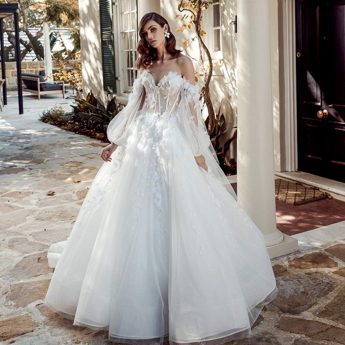 váy cưới chiết eo leah da gloria 2020