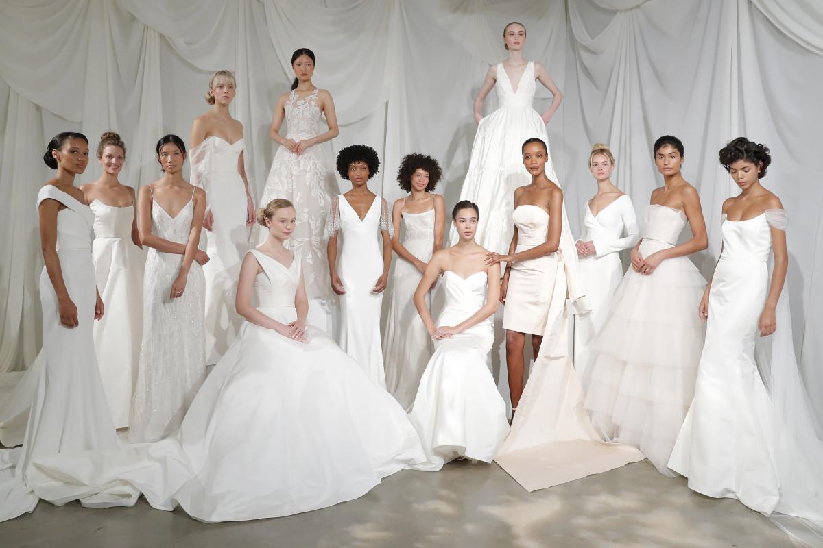 váy cưới cổ điển amsale bridal