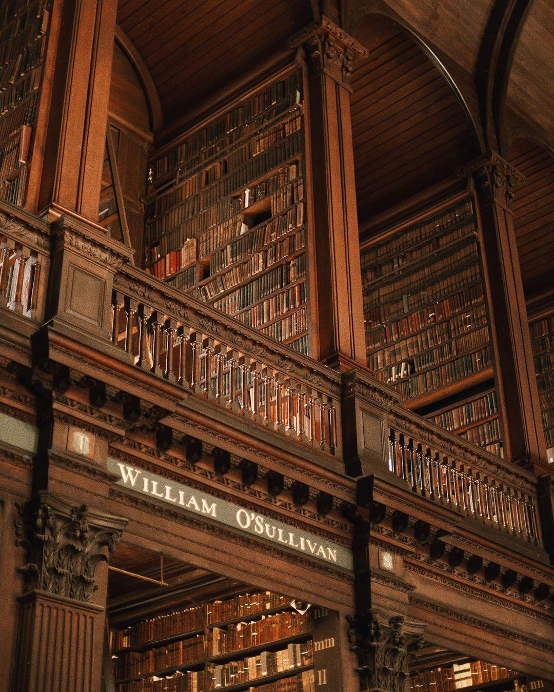 phong cách thời trang dark academia thư viện